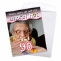 Funny Milestone Birthday Jumbo Paper Card From NobleWorksCards.com - 90 Years Old and Hot image 3