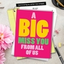 Humorous Miss You Jumbo Paper Card From NobleWorksCards.com - A Big Miss You image 6