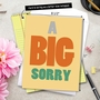 Humorous Sorry Jumbo Paper Greeting Card from NobleWorksCards.com - A Big Sorry image 6