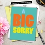 Hilarious Sorry Jumbo Printed Greeting Card from NobleWorksCards.com - A Big Sorry image 6