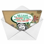 Hilarious Christmas Paper Card from NobleWorksCards.com - A Little Head image 2