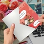 Hilarious Galentine's Day Printed Greeting Card By Jamie Charteris From NobleWorksCards.com - Abnormal Friends image 2