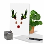 Creative Merry Christmas Greeting Card From NobleWorksCards.com - Abstract Reindeer - Acorn image 6
