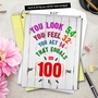 Hysterical Milestone Birthday Jumbo Printed Card From NobleWorksCards.com - Age Equation-100 image 6