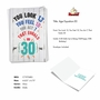 Hysterical Milestone Birthday Printed Card From NobleWorksCards.com - Age Equation-30 image 2