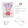 Humorous Milestone Birthday Paper Card From NobleWorksCards.com - Age Equation-40 image 2