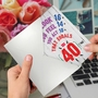 Humorous Milestone Birthday Paper Card From NobleWorksCards.com - Age Equation-40 image 3