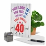 Humorous Milestone Birthday Paper Card From NobleWorksCards.com - Age Equation-40 image 6