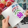 Hilarious Milestone Birthday Greeting Card From NobleWorksCards.com - Age Equation-50 image 3