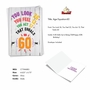 Funny Milestone Birthday Card From NobleWorksCards.com - Age Equation-60 image 2
