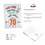 Funny Milestone Birthday Card From NobleWorksCards.com - Age Equation-70 image 2