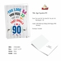 Humorous Milestone Birthday Paper Card From NobleWorksCards.com - Age Equation-90 image 2