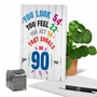 Humorous Milestone Birthday Paper Card From NobleWorksCards.com - Age Equation-90 image 6