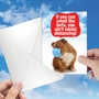 Funny Friendship Paper Card From NobleWorksCards.com - Ain't Social Distancing image 3