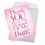 Humorous Thank You Jumbo Paper Card From NobleWorksCards.com - All My Butt image 2