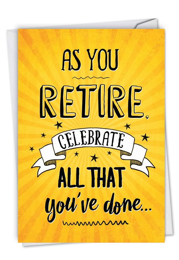 as you retire  hysterical retirement greeting card