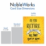 Hilarious Retirement Jumbo Printed Card By Johnie Seals From NobleWorksCards.com - As You Retire image 4