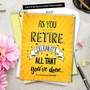 Hilarious Retirement Jumbo Printed Card By Johnie Seals From NobleWorksCards.com - As You Retire image 6