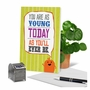 Humorous Birthday Paper Card From NobleWorksCards.com - As Young Today image 6