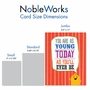 Hilarious Birthday Jumbo Greeting Card From NobleWorksCards.com - As Young Today image 5