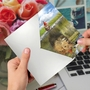 Artful Birthday Printed Greeting Card From NobleWorksCards.com - Aspirations - Kitten image 2