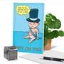 Humorous New Year Paper Card By Jason Katzenstein From NobleWorksCards.com - Baby New Year - 2020 image 6