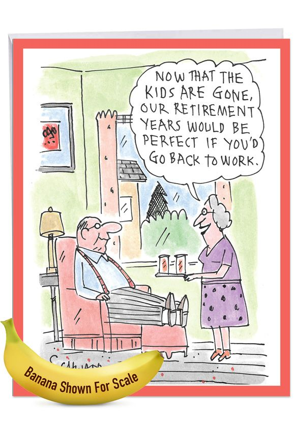 back to work funny retirement oversized paper greeting card