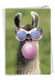 Balloon Animals - Llama Card