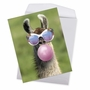 Creative Birthday Jumbo Printed Greeting Card From NobleWorksCards.com - Balloon Animals - Llama image 2