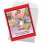 Humorous Merry Christmas Jumbo Paper Card By Tim Whyatt From NobleWorksCards.com - Bangkok image 2