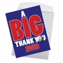 Hysterical Graduation Thank You Jumbo Greeting Card From NobleWorksCards.com - Baseball - 2019 image 2
