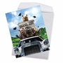 Stylish Graduation Thank You Jumbo Paper Greeting Card From NobleWorksCards.com - Bear Mascot - 2019 image 2