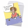 Humorous Get Well Jumbo Paper Greeting Card By Stanley Makowski From NobleWorksCards.com - Best Medicine image 2