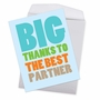 Hysterical Thank You Jumbo Greeting Card From NobleWorksCards.com - Best Partner image 3