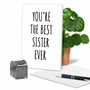 Hysterical Birthday Sister Printed Greeting Card By James Greenwood From NobleWorksCards.com - Best Sister Ever image 5