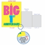 Funny Milestone Anniversary Jumbo Paper Greeting Card From NobleWorksCards.com - Big 1 image 5