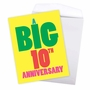 Humorous Milestone Anniversary Jumbo Card From NobleWorksCards.com - Big 10 image 3