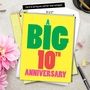 Humorous Milestone Anniversary Jumbo Card From NobleWorksCards.com - Big 10 image 6