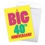 Humorous Milestone Anniversary Jumbo Card From NobleWorksCards.com - Big 40 image 3