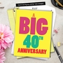 Humorous Milestone Anniversary Jumbo Card From NobleWorksCards.com - Big 40 image 6