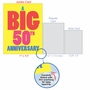 Hysterical Milestone Anniversary Jumbo Greeting Card From NobleWorksCards.com - Big 50 image 5