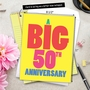 Hysterical Milestone Anniversary Jumbo Greeting Card From NobleWorksCards.com - Big 50 image 6