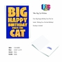 Humorous Birthday Pet Paper Card From NobleWorksCards.com - Big Cat Wishes image 2
