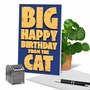 Humorous Birthday Pet Paper Card From NobleWorksCards.com - Big Cat Wishes image 6