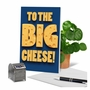 Funny Boss Thank You Paper Greeting Card From NobleWorksCards.com - Big Cheese image 6