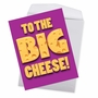 Humorous Boss's Day Jumbo Paper Greeting Card From NobleWorksCards.com - Big Cheese image 3