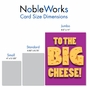 Humorous Boss's Day Jumbo Paper Greeting Card From NobleWorksCards.com - Big Cheese image 5