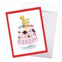 Stylish Milestone Anniversary Jumbo Paper Card From NobleWorksCards.com - Big Day 1 image 3