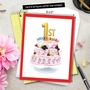 Stylish Milestone Anniversary Jumbo Paper Card From NobleWorksCards.com - Big Day 1 image 6