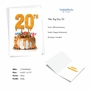 Creative Milestone Anniversary Printed Greeting Card From NobleWorksCards.com - Big Day 20 image 2